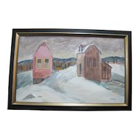 CHARLES HEANEY Oregon Casein on Board Painting Framed Art WINTER