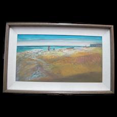CHARLES HEANEY Oregon Casein on Board Painting Framed Art BEACH Oceanscape