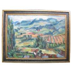 Oregon Art ANDREW VINCENT Signed Impressionist Farm LANDSCAPE Oil Painting