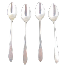 """STERLING Silver Old Newbury Crafters ONC 4pc Citrus 5 1/2"""" Spoon Set"""