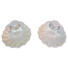 GORHAM Sterling Silver Set of 2 SHELL Candy Soap Dish Bowl 445