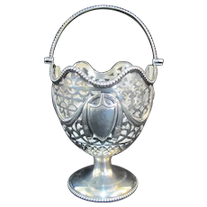 Antique STERLING Silver English Chester George Nathan & Ridley Hayes BASKET