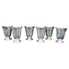 STERLING Silver 6pc CORDIAL Small Drinking Shot Cup Set WP443