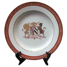 SAMSON Porcelain ARMORIAL Plate Lion & Goat Esse Quam Videri Plate