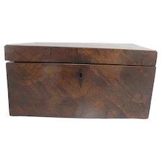 Antique GEORGIAN Regency Mahogany Wood TEA CADDY Box with 3 Compartments