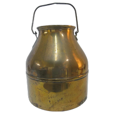 Antique COPPER 19th Century Large Dairy MILK PAIL Can Jug with Handle
