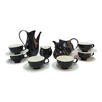 EVA ZEISEL for Hallcraft Mid Century Modern Atomic FANTASY 16pc Coffee & Tea Set