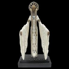 ERTE Romaine de Tirtoff Bronze 1987 BYZANTINE Female ART DECO Sculpture