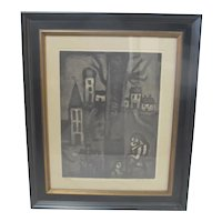 French GEORGES ROUAULT Plate 10 Miserere Old District of Long Suffering Aquatint
