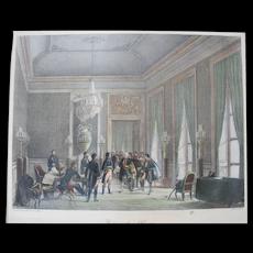 Charles MOTTE Avenement de L'Empire ADVENT of the EMPIRE Antique Lithograph