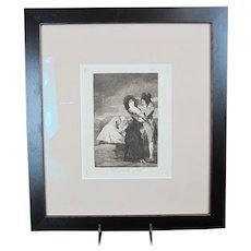"""Francisco GOYA Framed """"Tal Para Qual"""" - TWO of a KIND Etching Plate 5"""