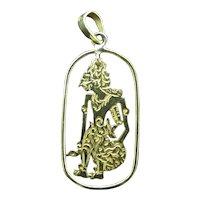 BODHISATTVA 22k Yellow Gold Bracelet Charm or Floating Necklace Pendant 1gr
