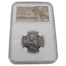 KINGDOM of MACEDON Alexander III 336-323BC Tetradrachm NGC Silver Coin