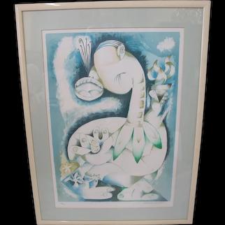 Alexandra NECHITA Signed Limited Edition CUBIST Framed Print