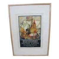 BRITISH Empire Exhibition 1924 Original Advertising COX Illustration Poster