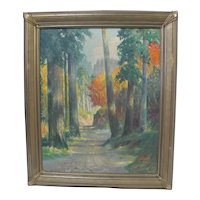 Frederick Southworth Autumn Oil Painting Washington Woods October 1928
