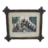 CURRIER & IVES Life & Age of Woman Stage of Life From CRADLE to GRAVE Print