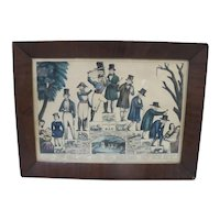 Currier & Ives Life & Age of Man Stage of Life From CRADLE to GRAVE Print c1850
