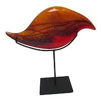 Cheyenne Malcolm Oregon Pacific Nw Studio Art Hand Blown Glass Sculpture