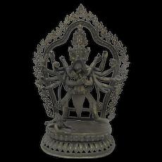 Antique BUDDHIST Chakrasamvara Vajravarahi FINE Detailed Cast BRONZE Sculpture