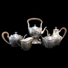 Antique Hodgson Kennard Boston & Magnolia STERLING SILVER 6pc Coffee Tea Service