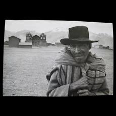 Vintage Photograph Quechua PEASANT FARMER Peruvian Andes Near Cusco Paul S Conklin