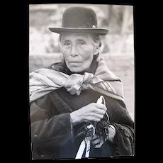 Vintage Black & White Photograph BOLIVIA Quechua WOMAN by Paul S Conklin