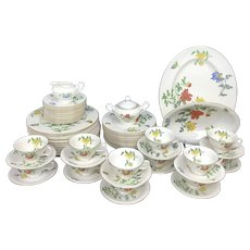 CASTLETON 65pc Floral MALIN Dinner Service for 12 Set ~ Plate Cup Saucer Serving