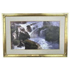 Roy GRINNELL River Waterfall Landscape Oil Painting NATURES HARMONY