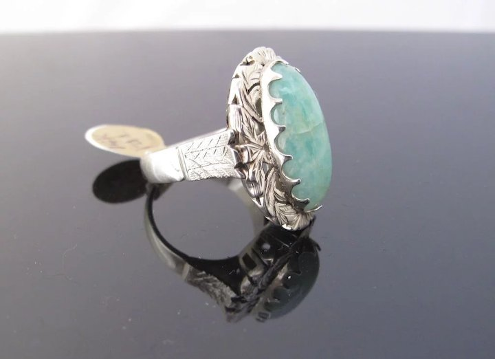 rings silver jewelscirca circa sterling mounted amazonite ad product dress img edit