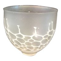 Delicate Translucent FLAMEWORK Signed Honeycomb Studio Art Glass Bowl