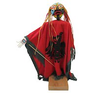 Eagle Transforming To Human Tribal Art Puppet Norma Bengiat Inspired by NW Coast