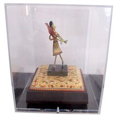 Oregon Art RENE RICKABAUGH Multi-Media Figural Sculpture FLOWER GIRL in Case