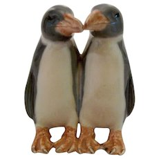 Two Penguins Kissing by Royal Copenhagen 1190 Anna Trap c1911 Figurine