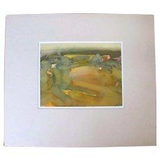 Oregon Artist HANK KOWERT Signed Original Watercolor Painting COASTAL STUDY