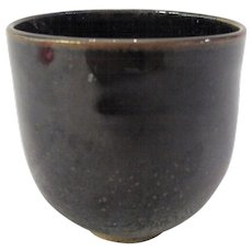 Laura Andreson Studio Pottery Tea Bowl Cup California Mid Century 1956 Tenmoku
