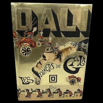 1st Edition 1973 Salvador Dali Surrealist LES DINERS De Gala Cookbook
