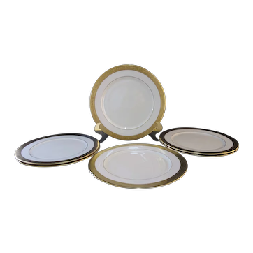 "LENOX White Gold Encrusted Band WESTCHESTER 11.5"" Service Charger Plate Set of 6"