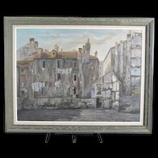 Aldo BRESSANUTTI Italian Rustic Ruin VILLAGE Scene Oil Painting on Canvas