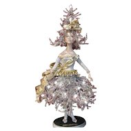 "Christmas Tree Doll Light #1'Jolie Noel'  by artist Bill O'Connor_Unique 28"" tall_Original Art Doll Light_Layaway Available"