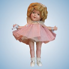 "Thank you 'L'_Shirley Temple Doll_Mint in Box_13""_Circa 1930's_Ideal Doll Co_USA"