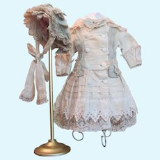 """Thank you 'E'_Large & Lovely French Bebe Costume with Bonnet_fits 27""""-28"""" Bebe"""