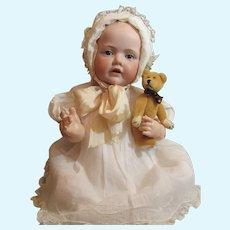 "Thank you 'G'_Large Baby Hilda JR. 20"" RARE BROWN Sleep Eyes_Orig Body Finish_KESTNER"