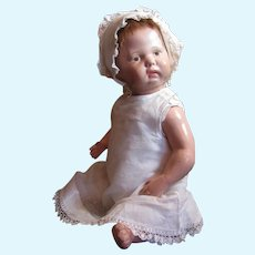"""Thank you 'R'_Schoenhut 16"""" Spring Jointed Baby with 4 pc outfit_Jointed at neck, shoulders and hips"""