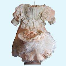 "Beautiful Bebe Dress w/ Bonnet for Large Doll_31""/32"""