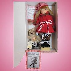 Thank you 'G'_EDITH The Lonely Doll Winter/Ice Skates/Steiff Bear/Book-all felt doll_