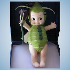 "Thank you 'S'_""Caper"" Kewpie Bug _ R. John Wright_all felt_fully jointed_Date of Release 2002_ Ltd. Ed. 133/250."