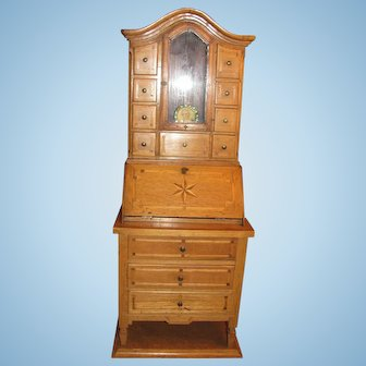 Salesman's Sample Secretary Bookcase Great for Antique Doll Accessory_Munich, Germany, 19th century_Drop Front Desk_LayAway Available...
