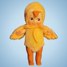 "Thank you 'B'_""6"" KEWPIE Chick Felt Doll Bug _ R. John Wright_MIB"