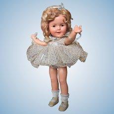"Thank you 'M'_13"" Shirley Temple Composition Doll_Original 1930's Circa_NO Crazing/NO Crackling_"